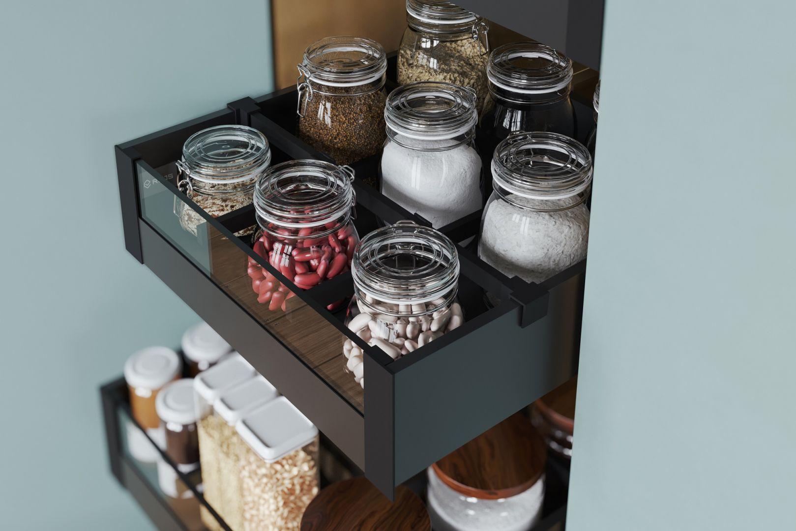 W każdej kuchni są setki rzeczy, które chcemy schować i jednocześnie mieć pod ręką. Szuflady są tu nieocenione. Fot. Rejs
