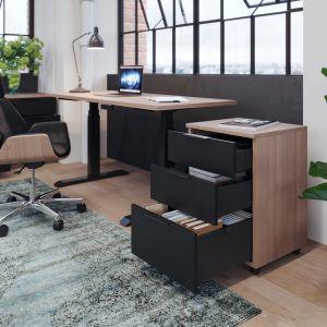 Czerń to również idealny kolor do przestrzeni formalnych. Kojarzy się bowiem z profesjonalizmem gabinetów, biur, open space'ów i innych pomieszczeń użytku publicznego. Fot. Rejs
