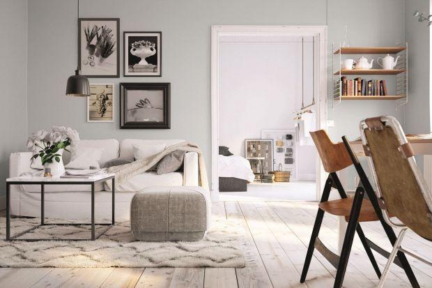 Intensywna zieleń, stonowane szarości, czy może efektowna tapeta? Jak udekorować ścianę w salonie? Zobaczcie nasze propozycje!
