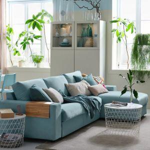 Trzyosobowa sofa do małego salonu z szezlongiem z kolekcji Vimle. Do kupienia w IKEA. Cena: 3.759 zł. Fot. IKEA