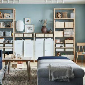 Meble do salonu z kolekcji IVAR4. Dostępne w IKEA. Cena: 1.868 zł/sekcje/półki/szafka. Fot. IKEA