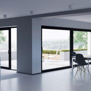 Drzwi tarasowe HST pozwalają na stworzenie konstrukcji naprawdę imponujących rozmiarów. Fot. Oknoplast