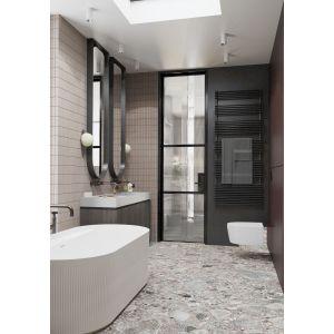 Łazienka przy sypialni. Projekt: MIKOŁAJSKAstudio