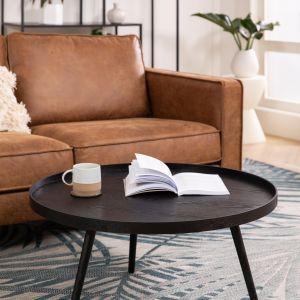 Okrągły stolik kawowy Mesa, z drewna, w stylu retro. Cena: 419,90 zł. WestwingNow