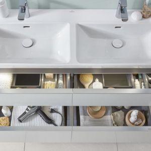 W kolekcji Subway 3.0 od Villeroy & Boch dostępne są praktyczne umywalki o szerokości 60 cm i większej, które mają głębokość 12 cm (mniejsze – 10 cm). Fot. Villeroy & Boch