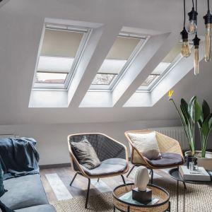 Nowa kolekcja rolet Velux oferuje 70 kolorów, dzięki którym stworzymy wyjątkowe stylizacje na poddaszu. Fot. mat. prasowe Velux