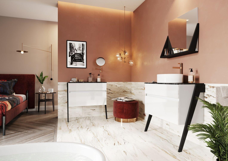 Meble do łazienki z kolekcji Op-arty marki Defra