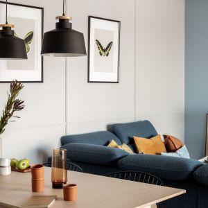 Salon i jadalnia tworzą jedną otwartą całość. Projekt: Framuga Studio. Zdjęcia: Aleksandra Dermont