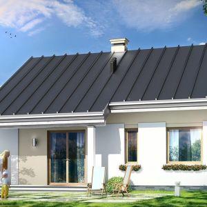Dom na prostą nowoczesną bryłę, dzięki czemu będzie tani w budowie i w późniejszej eksploatacji. Projekt: arch. Michał Gąsiorowski. Fot. MG Projekt