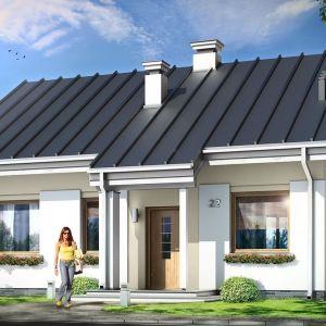 Kajtek to mały, ale bardzo wygodny dom. Projekt: arch. Michał Gąsiorowski. Fot. MG Projekt
