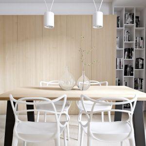 Tuż przy kuchni znajduje się jadalnia. Projekt i wizualizacje: Mateusz Limanówka, Spacja Studio