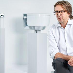 Szwajcarski designer Christoph Behling. Fot. geberit