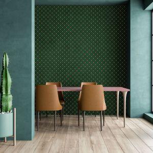 Zielona mozaika we wnętrzach. Fot. Raw Decor