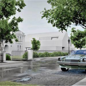 Nowoczesna bryła domu nie zakłócała otoczenia, w którym dominują wille o tradycyjnej architekturze. Projekt: pracownia Core