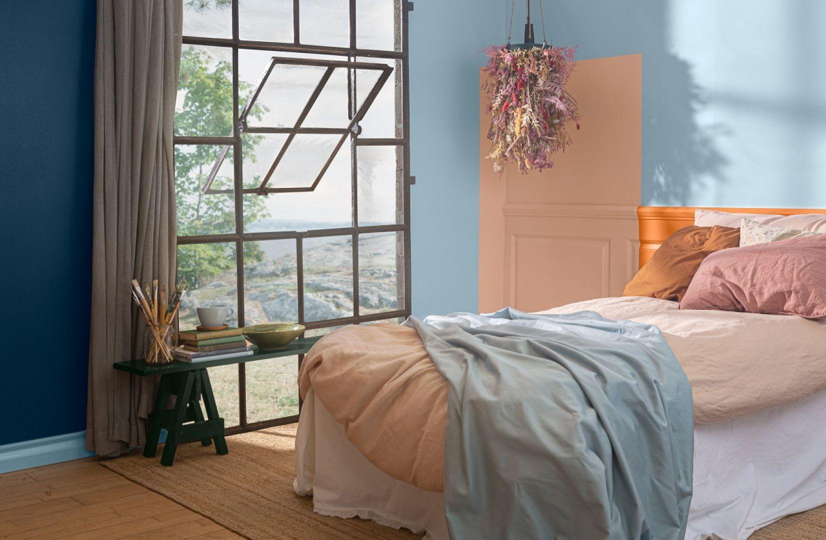 Kolory późnego lata w sypialni. Fot. Tikkurila
