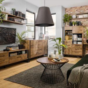 Meble do salon z kolekcja Luton są proste, surowe i oszczędne w formie. Fot. Black Red White