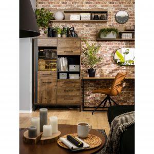 Meble do salonu z kolekcji Luton zostały wyposażone w liczne szuflady, szafki i półki do przechowywania. Fot. Black Red White