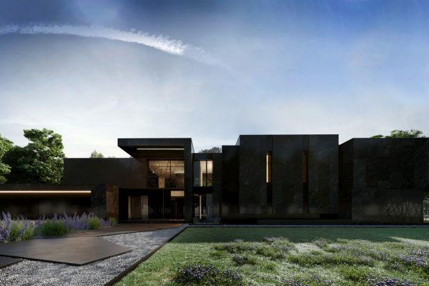 W projekcie Re: Nero Housegłęboka czerń odgrywa główną rolę.Budynek jest odważny, nowoczesny i elegancki. Bryła została podzielona na poszczególne funkcje, dzięki temu każda część budynku ma odpowiednio przypisaną strefę.