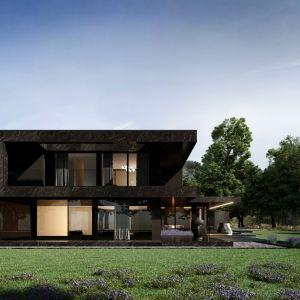 Bryła dom Re: Nero House została podzielona na poszczególne funkcje, dzięki temu każda część budynku ma odpowiednio przypisaną strefę. Projekt: Marcin Tomaszewski, REFORM Architekt