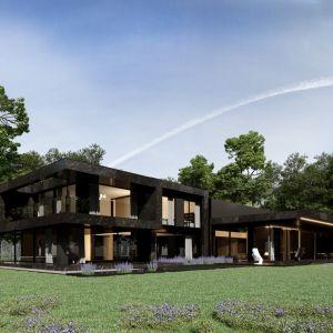 W fasadzie budynku Re: Nero House architekt wykorzystał stalowe elementy imitujące kształt marmuru. Projekt: Marcin Tomaszewski, REFORM Architekt