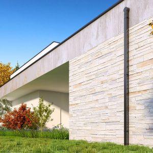 W przypadku orynnowania płaskiego dachu najlepiej korzystać z systemów wewnętrznych, których podstawowym elementem są tzw. wpusty dachowe. Fot. Galeco