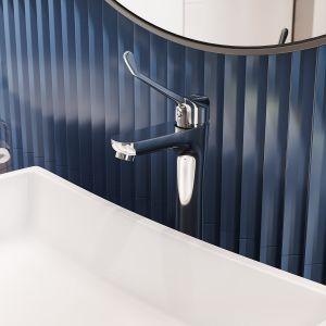Komfort ponad wszystko: Algeo Medico bateria umywalkowa nablatowa stojąca. Fot. Ferro