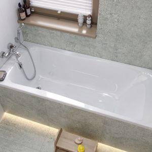 Gdy w łazience mamy do czynienia ze stosunkowo niewielką powierzchnią, na przykład 260x260 cm, urządzenia możemy ustawić wzdłuż ścian. Fot. Geberit