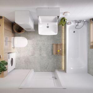 Wygodny układ łazienki z wanną. Fot. Geberitpg