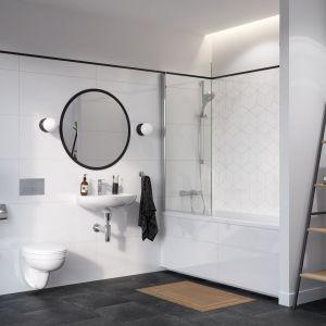 By łazienka z wanną była wygodna, potrzeba na nią ponad pięciu metrów kwadratowych, choć oczywiście możliwe jest praktyczne zagospodarowanie jej również na mniejszej powierzchni. Fot. Geberit