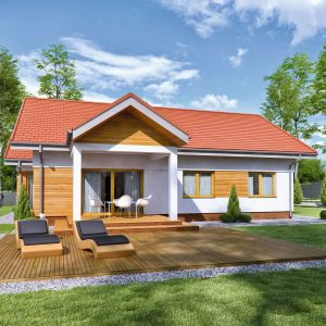 Projekt domu TK201G. Autor projektu: Tomasz Kałaska, Architeka