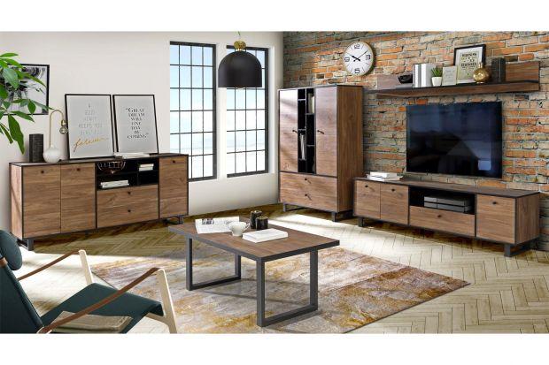 Jakie meble wybrać do salonu? Polecamy kolekcję, która będzie piękne wyglądała w nowoczesnym, loftowym czy industrialnym wnętrzu. Dzięki niej salon będzie urządzony modnie i bardzo wygodnie.
