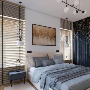 Wygodna, przestronna sypialnia. Projekt i wizualizacja: Donata Gadalska, DG Studio