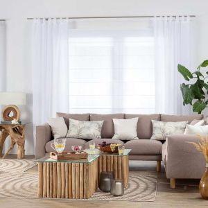 Dywan Jersey Home wool/mink w ciepłej brązowo-naturalnej kolorystyce, z geometrycznym wzorem kół. Do kupienia w sklepie Dekoria.pl. Cena: 359 zł (160x230 cm). Fot. Dekoria