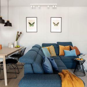 Poduszki w salonie. Projekt: Framuga Studio. Fot. Aleksandra Dermont