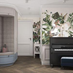 Przytulne mieszkanie z motywem kwiatów. Projekt MIKOŁAJSKAstudio