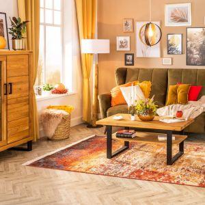 Modny salon w kolorach ziemi. Fot. Salony Agata