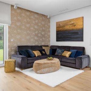 Biały dywan w nowoczesnym salonie. Projekt: Dariusz Grabowski, Dagar Studio. Fot. Mateusz Pawelski