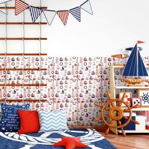Kolorowe panele tapicerowane z kolekcji Mollis w pokoju dziecka.