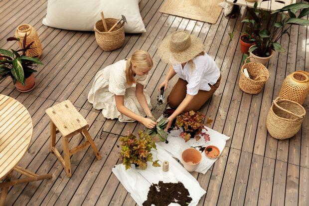 Drewno na tarasie i w ogrodzie o każdej porze roku wygląda pięknie, dodając przytulności przydomowej przestrzeni. Jesienią wymaga jednak odpowiedniego zabezpieczenia. Możeszmu nada także zupełnie nowych styl i charakter. Pomogą w tym dostępne