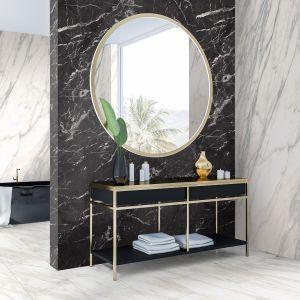 Wielkoformatowe płyty Rocko Tiles możesz montować na ścianie bez skuwania płytek. To najlepszy pomysł na szybki remont kuchni, łazienki czy salonu. Na zdjęciu dekory R102, R106, R095. Producent: Kronospan