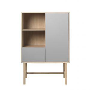 Trend 3. Szara komoda z nogami z drewna dębowego Unique Furniture Bilbao. Cena: 3.519 zł. Fot. Bonami.pl