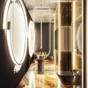 Bardzo stylowa łazienka dla gości. Autorki projektu: Agnieszka Zaremba, Magdalena Kostrzewa Świątek, Katarzyna Dąbek, TISSU Architecture