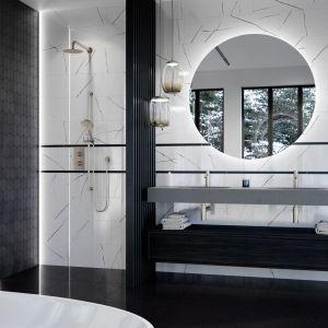 Kolekcja Prestige jest minimalistyczna i oszczędna w formie. Płytki skomponowane w bieli mają piękny rysunek marmuru, a czarne dekory zachwycają gładką, matową powierzchnią. Marka: Ceramica Bianca