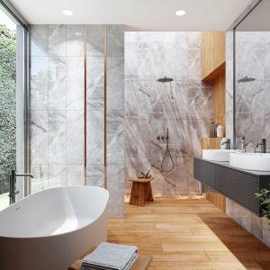 Kolekcja Marble to kwintesencja najnowszych trendów wnętrzarskich. Łączy szarość marmuru z ponadczasowym rysunkiem drewna.  Marka: Ceramica Bianca