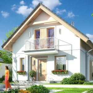 Dom Oleńka zaprojektowany został na planie zbliżonym do kwadratu. Projekt: arch. Michał Gąsiorowski. Fot. MG Projekt