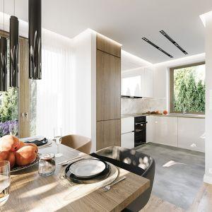 Dom posiada świetną izolację termiczną, wykorzystuje nowoczesne instalacje i technologie. To wszystko wpływa na jego energooszczędność. Projekt: arch. Michał Gąsiorowski. Fot. MG Projekt