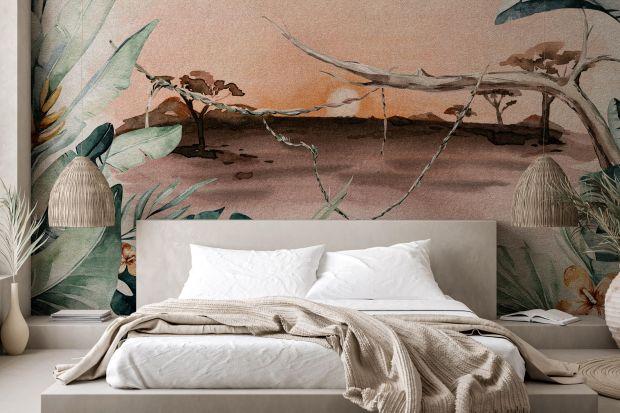 Ściana za łóżkiem to miejsce, które warto pięknie ozdobić. W tej roli doskonale sprawdzi się tapeta. Zobaczcie 14 najmodniejszych wzorów.