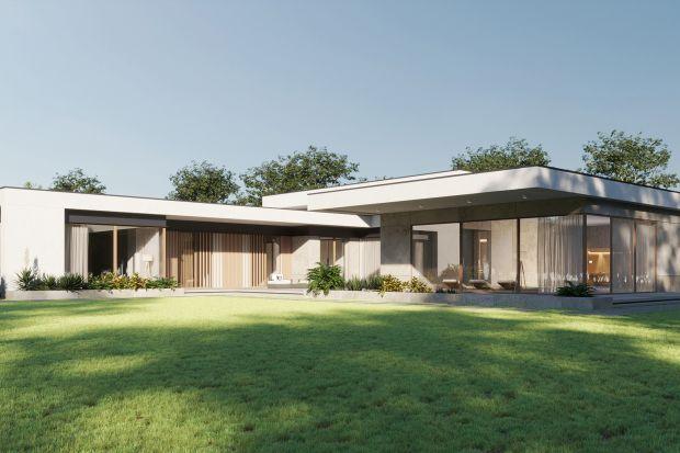 Ten projekt naprawdę robi wrażenie! 640 metrów powierzchni na liczącej hektar działce. Basen i spa, duża część dzienna i nocna, pokoje gości, spory garaż. A wszystko w minimalistycznej, parterowej bryle, którą zaprojektowali architekci z prac